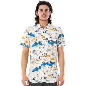 Rip Curl Hawaiian Short Sleeve Shirt Men, blanco/Multicolor